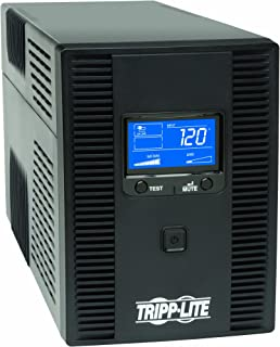 Tripp Lite SMART1500LCDT 1500VA 900W UPS Battery Back Up, AVR, LCD Display, Line-Interactive, 10 Outlets, 120V, USB, Tel &...