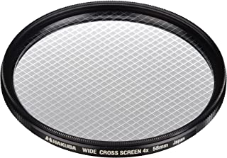 HAKUBA 58mm Lens Filter Wide Cross Screen Filter 4 ~ Japanese-Made CF-WCS458