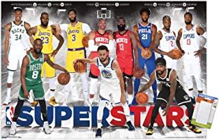 "Trends International NBA League-Superstars Mount Wall Poster, 22.375"" x 34"", Poster & Mount Bundle"