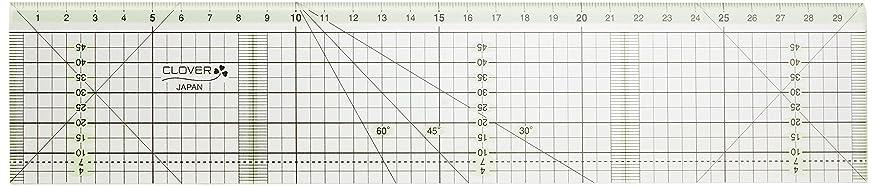 動かないカスタムウルルClover カッティング定規 カラーライン 30cm 57-940