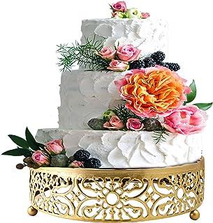 پایه کیک طلایی برای میز دسر ، کلوچه های کیک 10 اینچی
