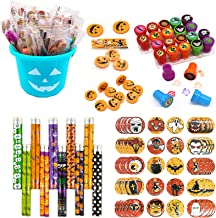 JOINBO 301PCS Halloween School Stationery Party Supplies Gift Sets Suitable for Classroom Exchange Parties and Teal Pumpki...
