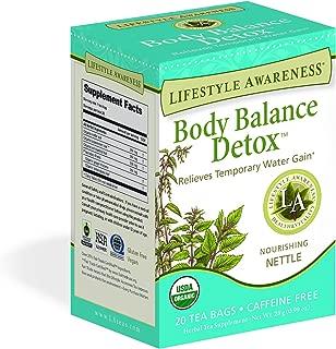 Lifestyle Awareness Body Balance Detox Tea with Nourishing Nettle, Caffeine Free, 20 Tea Bags, Pack of 6