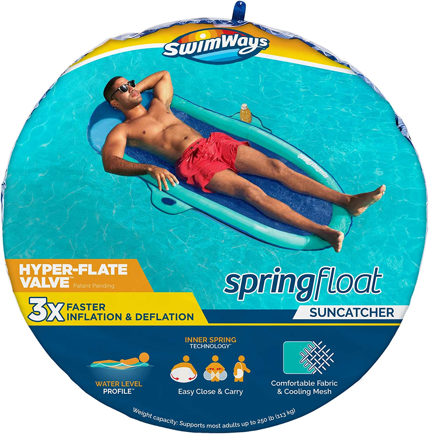 SwimWays Spring Float SunCatcher Inflatable Pool Outstanding Hy A surprise price is realized with Lounger