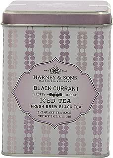 Harney & Sons Black Iced Tea, Black Currant, 6 Tea Bags