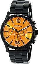 Caravelle New York Men's 45A108 Analog Display Japanese Quartz Black Watch