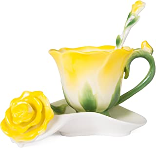 Best yellow rose teacup Reviews
