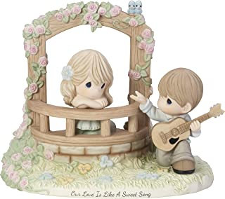 Precious Moments Limited Edition Our Love Is Like A Sweet Song Couple Serenade Bisque Porcelain Figurine 182008
