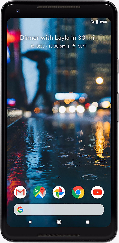 Google Pixel 2 XL 64GB Unlocked GSM/CDMA 4G LTE Octa-Core Phone w/ 12.2MP Camera - Just Black