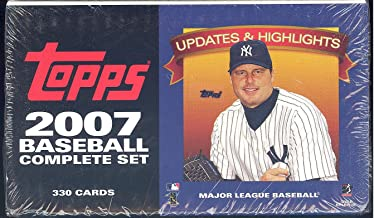 2007 Topps Baseball Traded Updates and Highlights Series Factory Sealed 330 Card Set. Loaded with Rookie Cards and Stars Including Ryan Braun, Tim Lincecum, Albert Pujols, Derek Jeter, Barry Bonds Plus