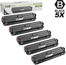 LD Remanufactured Toner Cartridge Replacement for HP 307A CE740A (Black, 5-Pack)