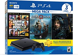 Paquete Consola PS4 Slim Megapack 13 con 3 juegos y membres�