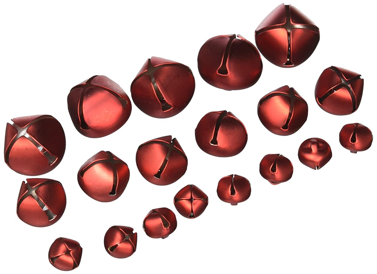 Holiday Jingle Bells - Red - Assorted Sizes (19 bells)