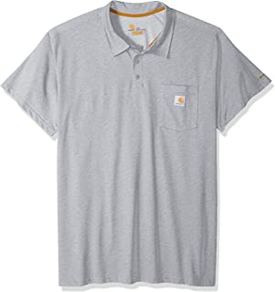 Carhartt Men's Force Cotton Delmont Pocket Polo (Regular and Big & Tall Sizes)