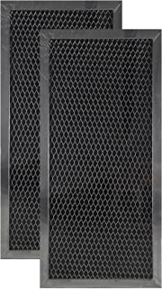 2 Pack Air Filter Factory Compatible Replacement For Whirlpool 4393791 Microwave Behind Vent Charcoal Filter Set 5.75 x 12.25 x .37 Inches