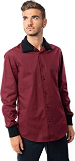 Morgan Visioli Fashion Camisa Hombre Burdeos