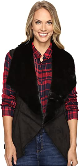 Faux Shearling Waterfall Vest