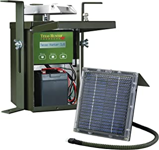 Texas Hunter 12-Volt Game Feeder System - Model TH70 + Battery + SP12 Charger