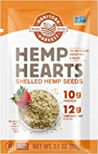 Manitoba Harvest Hemp Hearts Shelled Hemp Seeds, 2.1oz (Pack of 12); 10g Plant-Based Protein & 12g Omegas p...