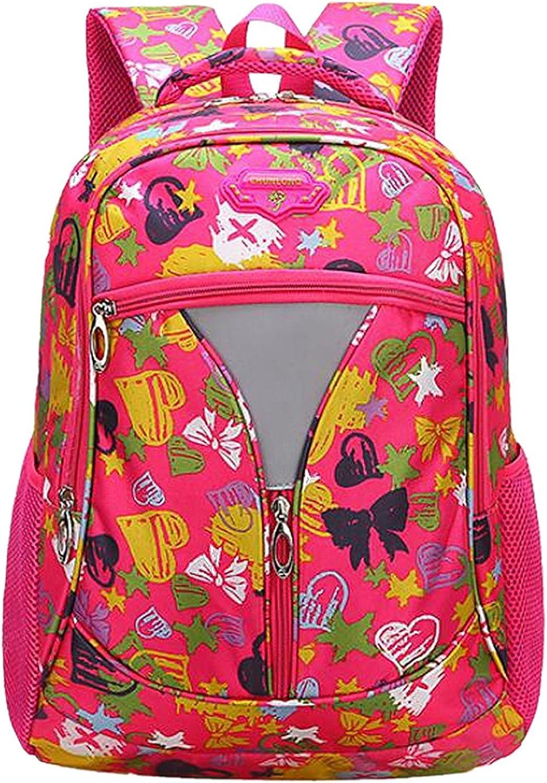 Lounayy Schulrucksack Mädchen Jungen Rucksack 14 Zoll Laptoprucksack Schultasche Schulranzen Schule Tasche Travel Sport Outdoor Lässig Kinderrucksack (Farbe   Rot) B07FCVXZGL   Viele Stile