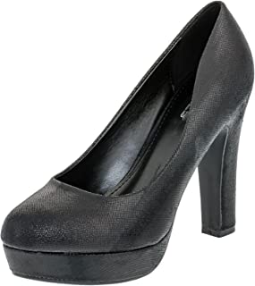Fashionteam24 Damen Pumps High Heels Plateau Party Schuhe