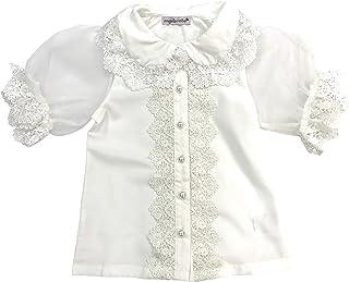 天使のドレス屋さん クラウディローブ 半袖ブラウス 子供服 キッズ かわいい 110cm-150cm 白