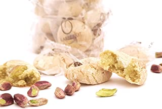 Siciliaanse amandel petit fours met pistachenoten uit Sicilië (400gr). RAREZZE: typisch Siciliaanse producten, cannoli, am...