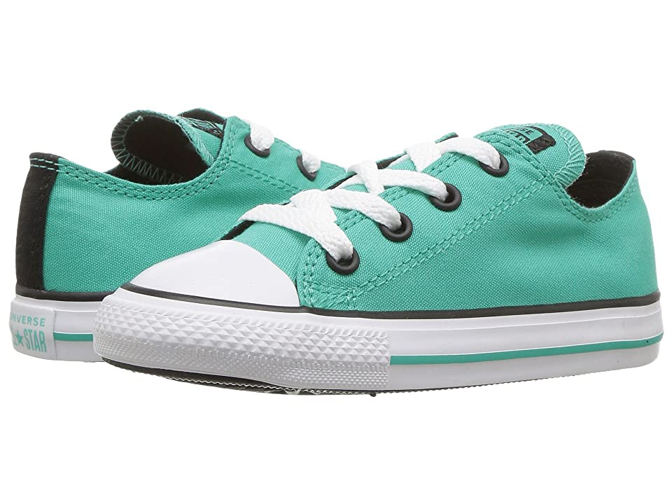 Converse Kids Chuck Taylor All Star Ox (Infant Toddler) (Pure Teal Black  White) Girl s Shoes f562049c9