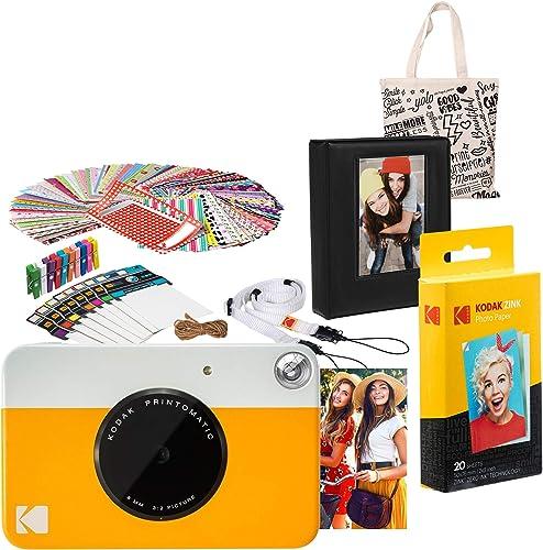 discount Kodak PRINTOMATIC Instant Print Camera high quality (Yellow) Gift Bundle sale with Photo Album online