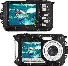 Waterproof Digital Camera FHD 1080P Underwater Camera 24.0MP Waterproof Camera Selfie Dual Screen Point and Shoot Underwater Digital Camera (Black)