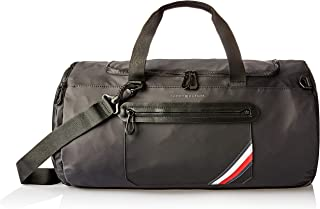 Tommy Hilfiger Men's Easy Tape Convertible Duffle Bag, Black, One Size