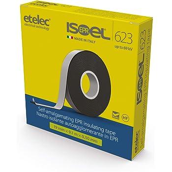 Nastro di riparazione in gomma impermeabile auto-amalgamante GTSE 19 mm x 5 m 2 rotoli