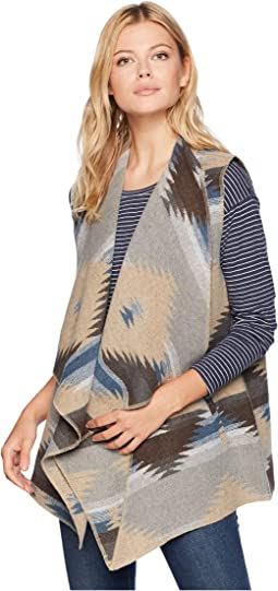 Vest with Draped Collar