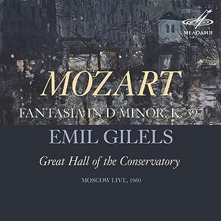 Fantasia in D Minor, K. 397/385g (Live)