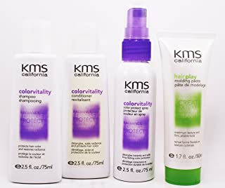 Kms Colorvitality Shampoo 2.5 fl Conditioner 2.5 fl Colorprotect Spray 2.5 fl And Hair Play Molding Paste 1.7 fl Travel Set