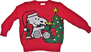 Jumping Beans Snoopy and Woodstock Toddler Red Holiday Sweater