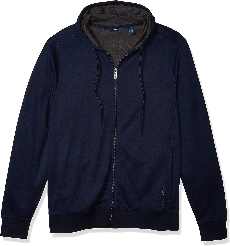 Perry Ellis Men's Full-Zip Hoodie, Dark Sapphire, 3X Large