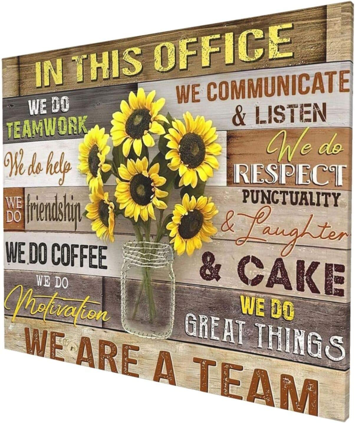 Financial sales sale Sunflower Inspirational Wall Art Office 2021 model Motivational Ar For