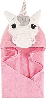 Hudson Baby Unisex Baby Animal Face Hooded Towel, Unicorn 1-Pack, One Size
