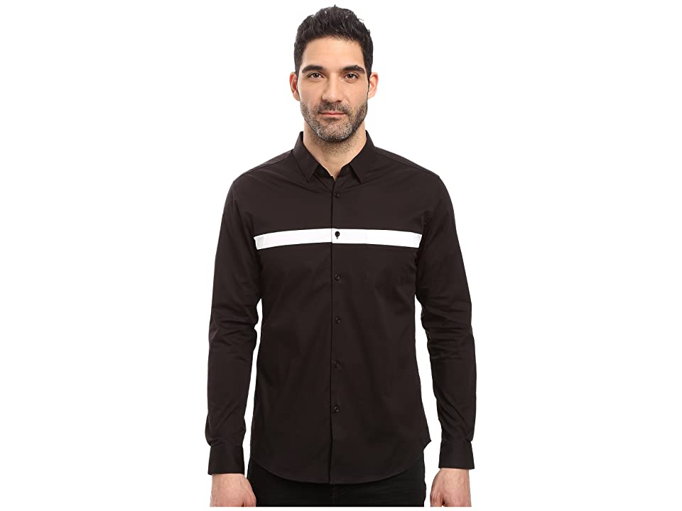 Image of 7 Diamonds Silver Linings Long Sleeve Shirt (Black) Men's Long Sleeve Button Up