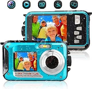 デジカメ 防水 防水カメラ 水中カメラ デジタルカメラ フルHD 1080P 24.0MP スポーツカメラ アクションカメラ デュアルスクリーン オートフォーカス 水に浮く ケース不要