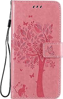 Fatcatparadise Funda para Nokia 2.3 [con Protector Pantalla], Relieve Dibujo Carcasa de Tipo Libro con Ranuras para Tarjet...