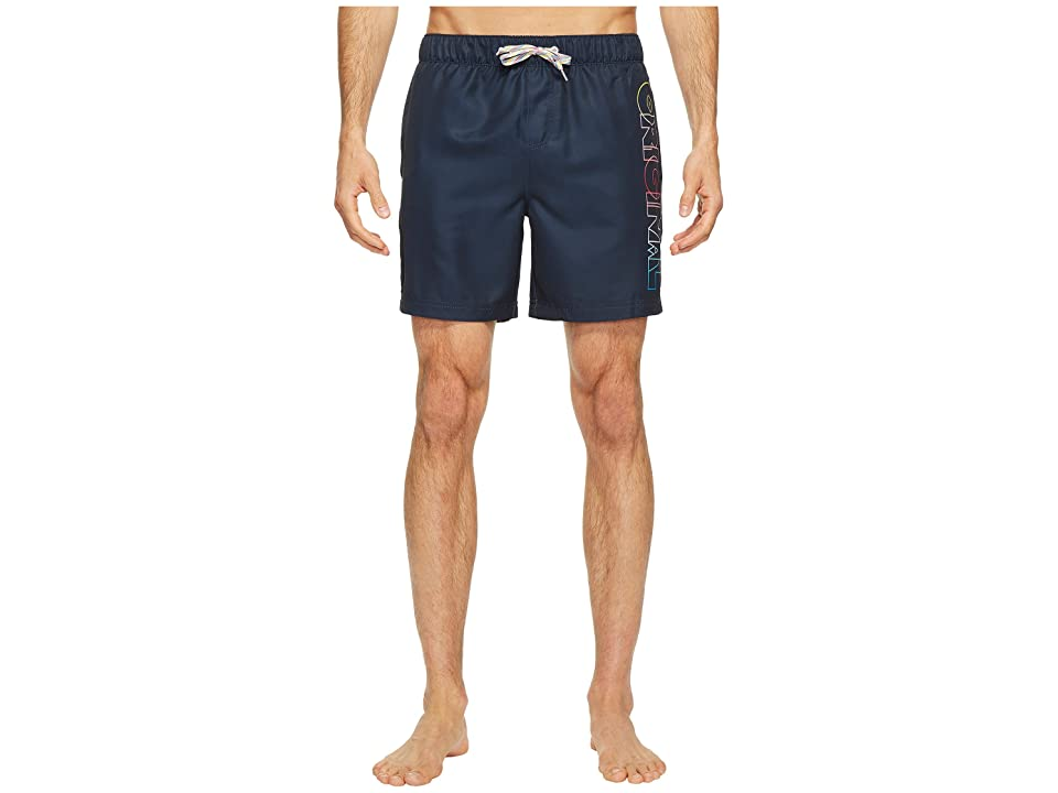 Original Penguin Ombre Original Elastic Volley Swim Trunk (Dark Sapphire) Men