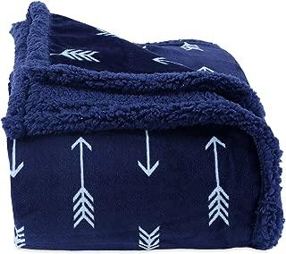 Berkshire Blanket VelvetLoft Plush Blanket Throw (50'' x 60'', Reversible Navy Arrow Print)