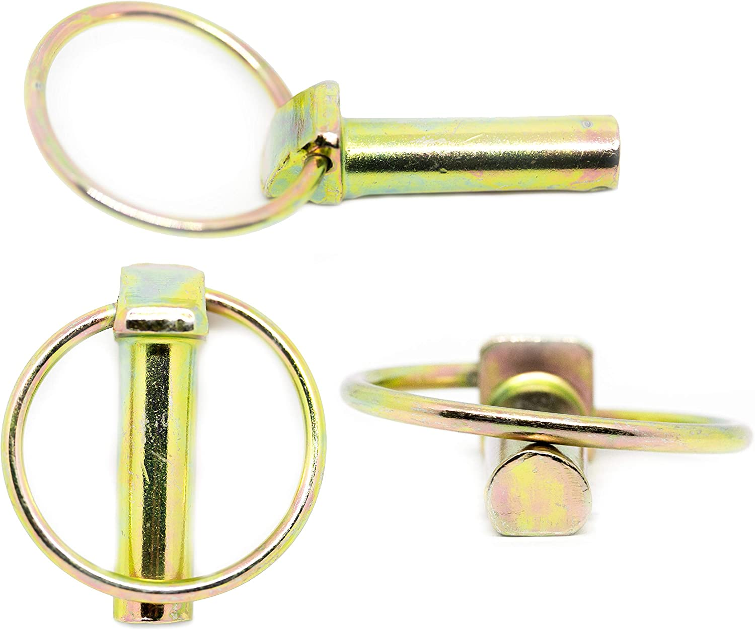 GALVANIZED STEEL LYNCH PIN 7MM 8MM 10MM TRAILOR TRACTOR SAFETY CLIP LOCK TRACTOR