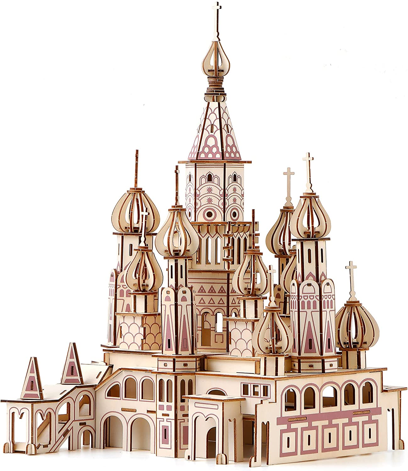 Wooden 3D Puzzle Cathedral for Adults New Orleans Mall Branded goods or Cathedr St.Basil Teens