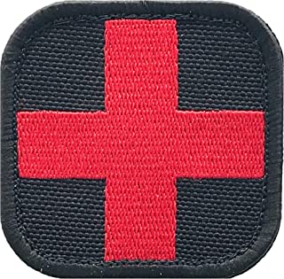 Medic Cross First Aid Morale Patch - Sch/Embroidered - Perfect for IFAK Rip Away Pouch, EMT, EMS, Trauma, Medical, Paramed...