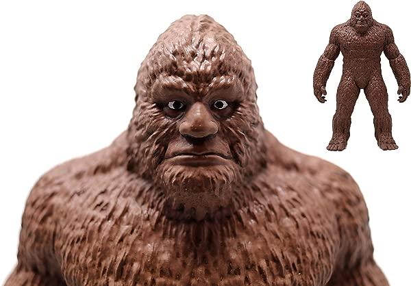 ANISAU Epic Bigfoot Statue Yeti Sasquatch Figure Polyresin Sculpture Figurine 9 Inch Dark Brown