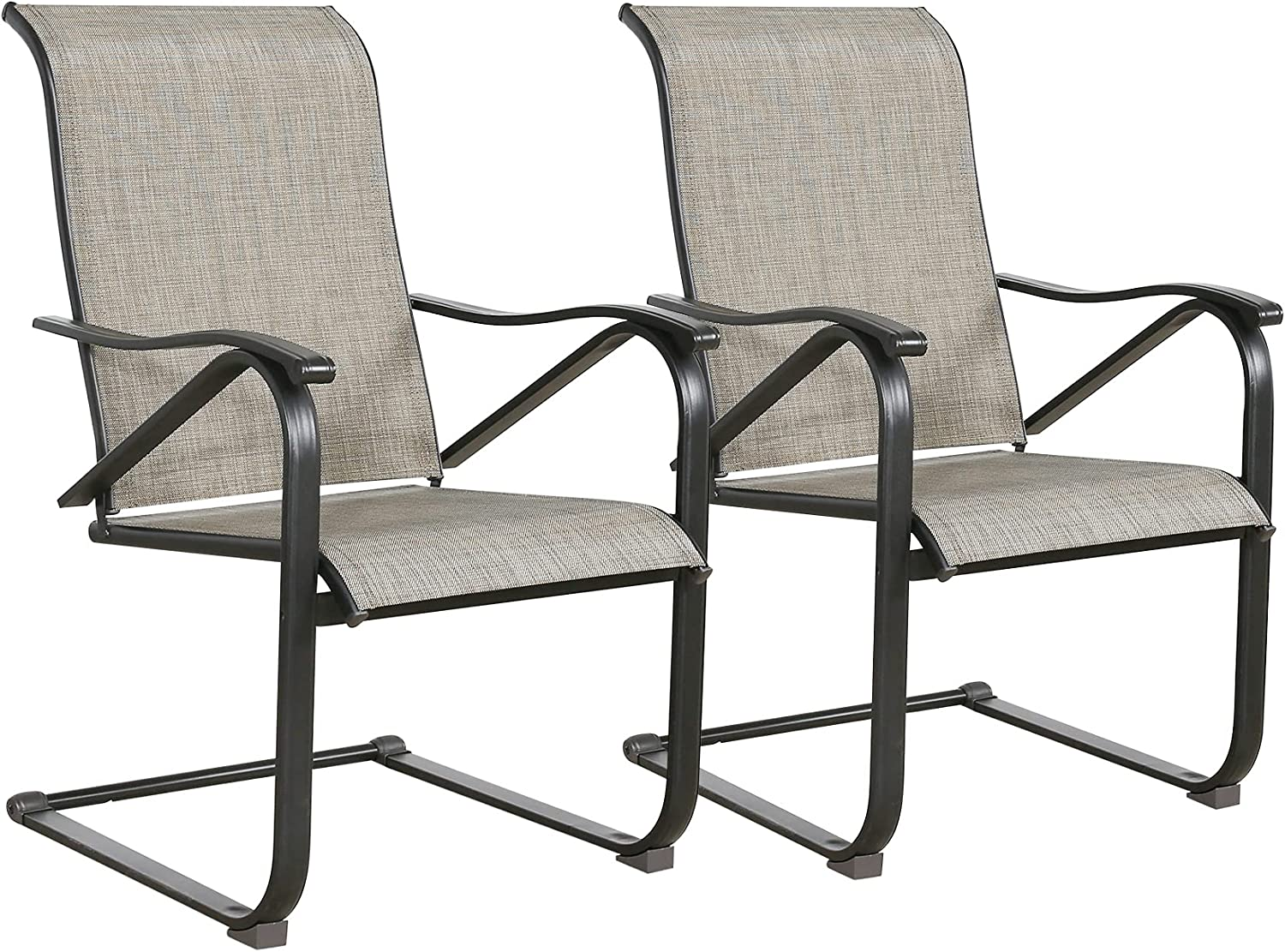 Ulax Furniture Arlington Mall Outdoor Dining Chairs Patio Spring Sling In stock Mo Metal