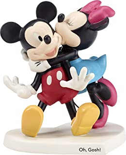 Precious Moments Disney Showcase Oh Gosh Mickey Mouse and Minnie Mouse Bisque Porcelain Figurine 182704